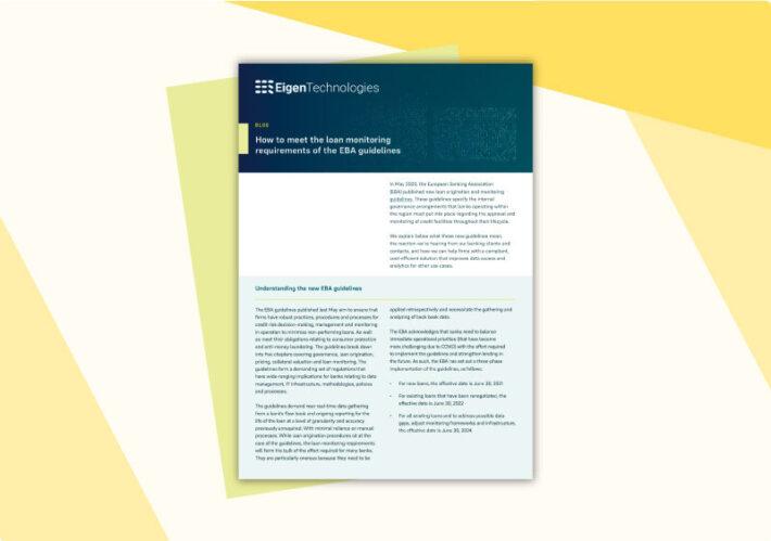 EBA guidelines whitepaper
