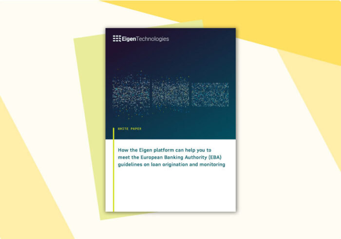 Meeting the EBA loan origination and loan monitoring guidelines white paper